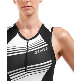 2XU Compression Traje Triatlón Mujer, black/black white lines